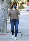 Jennifer Garner grabs a coffee before heading into her office in Santa Monica, California