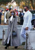 Jennifer Lopez and Alex Rodriguez look classy as they are seen arriving at the Super Bowl in Tampa, Florida