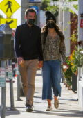 Jordana Brewster and boyfriend Mason Morfit pack on the PDA during their morning coffee run in Brentwood, California