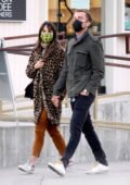 Jordana Brewster and Mason Morfit hold hands as they step out for some shopping in Venice, California