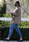 Kaia Gerber grabs a bite to eat and a coffee at San Vicente Bungalows in West Hollywood, California