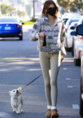 Kaia Gerber steps out for her morning coffee at Alfred Coffee after her Pilates session in West Hollywood, California