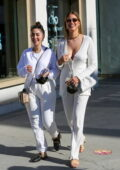Kara Del Toro looks great in all-white as she steps out for lunch and shopping with a friend in Beverly Hills, California