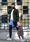 Kate Mara goes to the park with her daughter in Silverlake, California