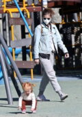 Kate Mara takes her daughter for a playday at a local park in Los Angeles