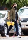 Kate Mara takes her daughter to a local park in Los Feliz, California