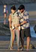 Katherine Schwarzenegger and Chris Pratt enjoyed Valentine's Day on the beach with their family in Los Angeles