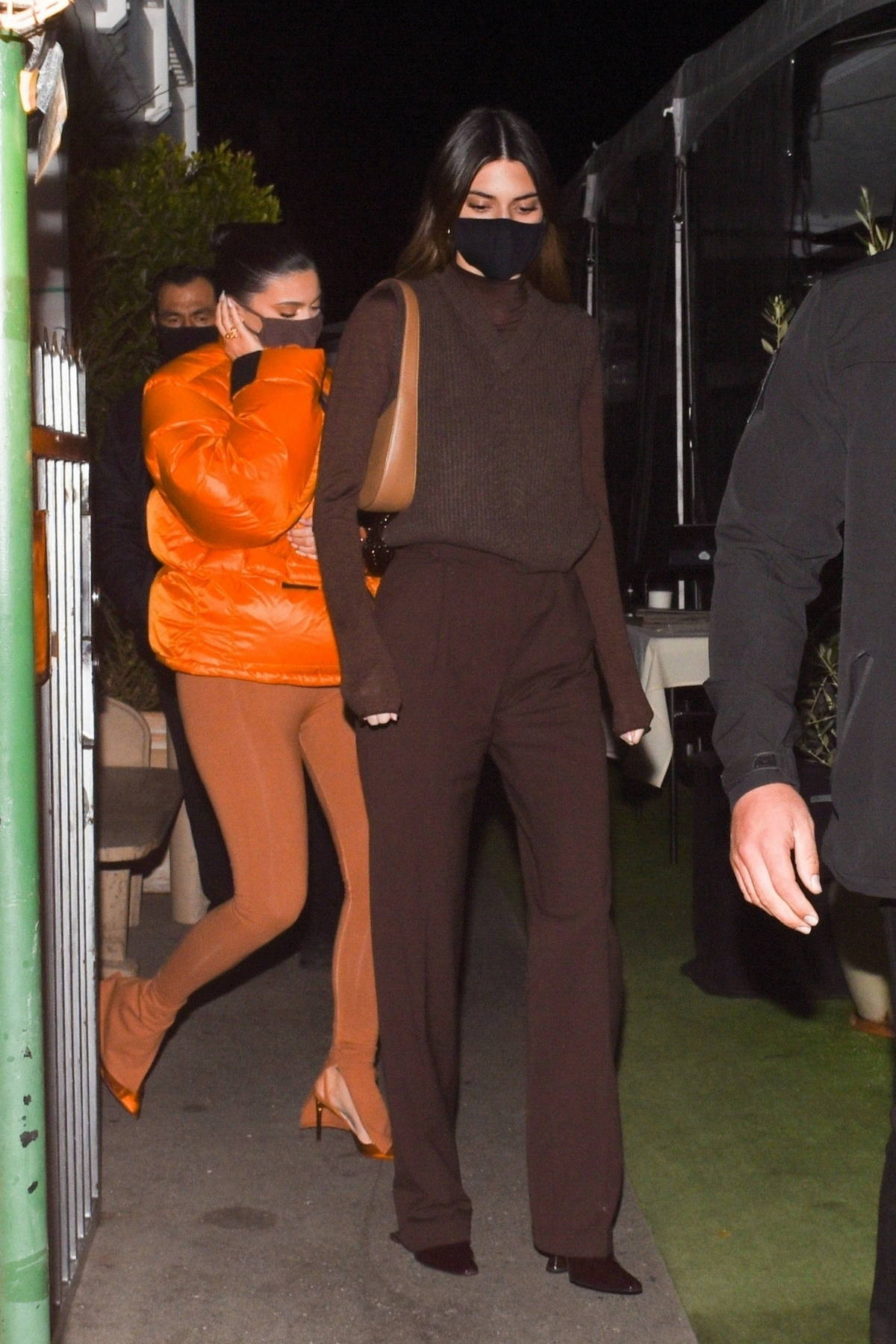 Kendall and Kylie Jenner step out for dinner at Giorgio Baldi in Santa Monica, California