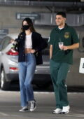 Kendall Jenner and Fai Khadra sip on some green juice as they stop by LACMA Museum in Los Angeles