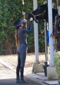 Kendall Jenner enjoyed a few hours of horseback riding in Malibu, California