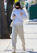 Kendall Jenner looks cozy in sweats during her trip to a doctor's office in Santa Monica, California