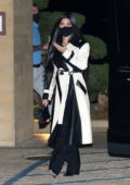 Kourtney Kardashian she steps out to dinner with son Mason and Fai Khadra at Nobu in Malibu, California