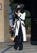 Kourtney Kardashian she steps out to dinner with son Mason and Fai Khadra at Nobu in Malibu, California