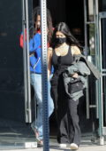 Kourtney Kardashian stops by Cha Cha Matcha for a fresh juice while out shopping for furniture in West Hollywood, California