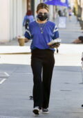 Lucy Hale keeps it casual as she stops at Starbucks to pick up some coffee while out running errands in Studio City, California