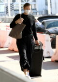 Maria Sharapova gets dropped off by her fiance Alexander Gilkes at LAX airport in Los Angeles