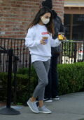Mila Kunis keeps it cozy in sweatshirt and joggers as she picks up coffee in Los Angeles