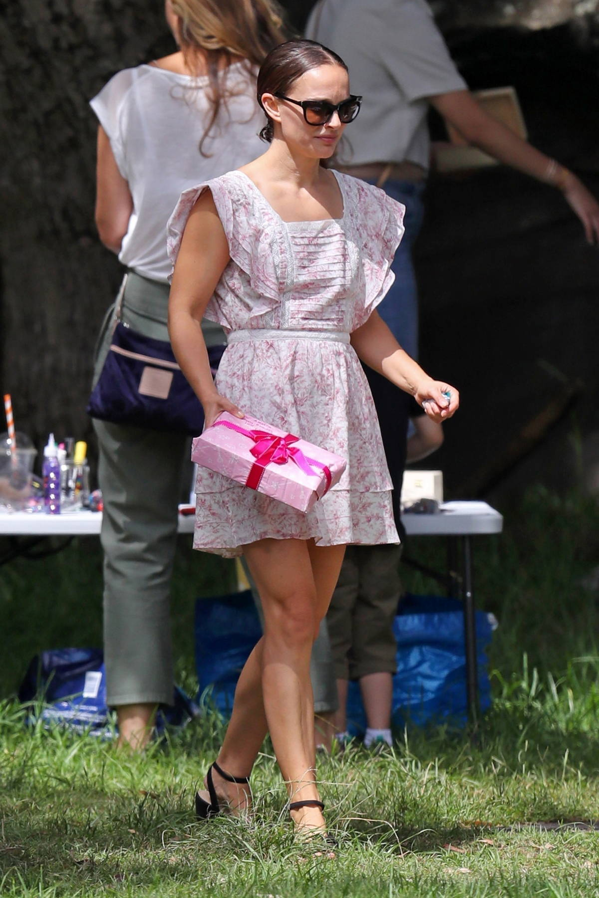 Natalie Portman and Benjamin Millepied are seen celebrating at their daughter's birthday in Sydney, Australia
