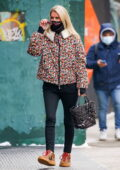 Nicky Hilton steps out sporting a colorful jacket in Manhattan, New York City