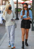 Pia Mia and Inanna Sarkis Grab a bite at 208 Rodeo Restaurant in Beverly Hills, California