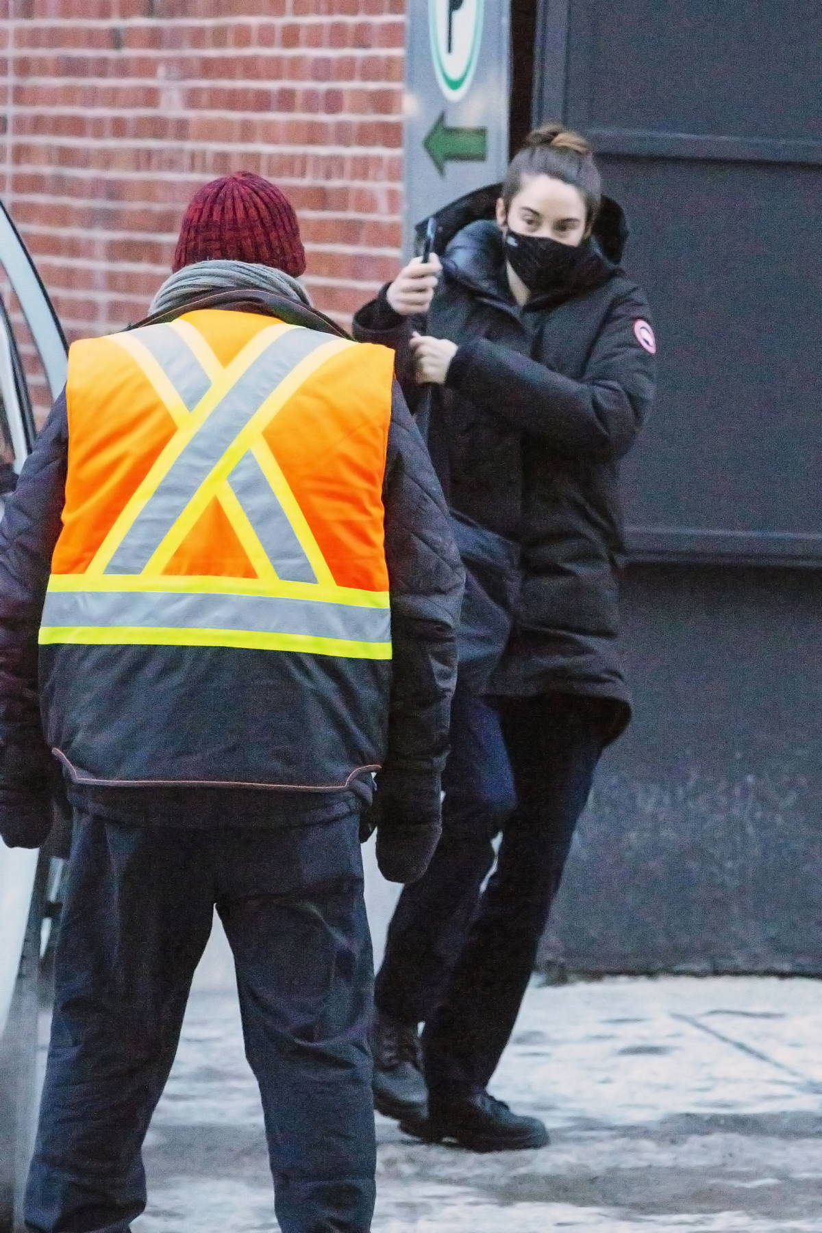 Shailene Woodley spotted as she arrives on the set of her new movie 'Misanthrope' in Montreal, Canada