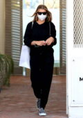 Sofia Richie looks great in all-black as she leaves Melanie Grant Skincare clinic on Melrose place in West Hollywood, California