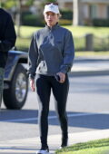 Sofia Richie steps out for a walk with her mom Diane and brother Miles in Los Angeles