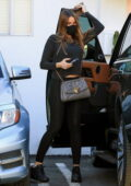 Sofia Vergara looks good in a black top and leggings while heading to a Pilates class in West Hollywood, California