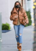 Sofia Vergara looks great in a brown puffer jacket while out in Beverly Hills, California