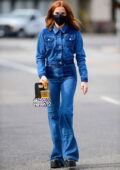 Zoey Deutch rocked an all-denim look while out grabbing some iced drinks from Alfred's in Los Angeles