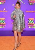 Addison Rae attends Nickelodeon's Kids' Choice Awards 2021 at Barker Hangar in Santa Monica, California