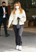 Addison Rae looks cheerful while visiting the Sunset Towers Hotel in West Hollywood, California