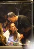 Alessandra Ambrosio enjoys a dinner date with new boyfriend Richard Lee at Katsuya in Brentwood, California