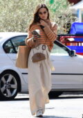 Alessandra Ambrosio puts on a stylish display during a coffee run in Brentwood, California