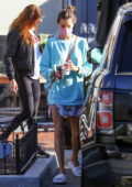 Alessandra Ambrosio steps out for breakfast in her pajamas in the Pacific Palisades, California