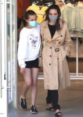 Angelina Jolie goes on a shopping trip with her daughter Vivienne in Hollywood, California
