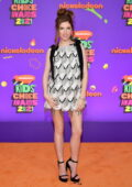 Anna Kendrick attends Nickelodeon's Kids' Choice Awards 2021 at Barker Hangar in Santa Monica, California