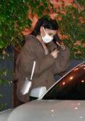 Ariana Grande keeps it low-key while on a dinner date with boyfriend Dalton Gomez at FIA in Santa Monica, California