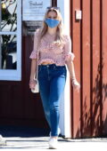 Ava Phillippe looks cute in a polka dot top while making a visit to the Country Mart in Brentwood, California