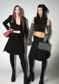 Bella and Gigi Hadid walk the runway at Versace Fall-Winter 2021 Fashion Show during Milan Fashion Week in Milan, Italy