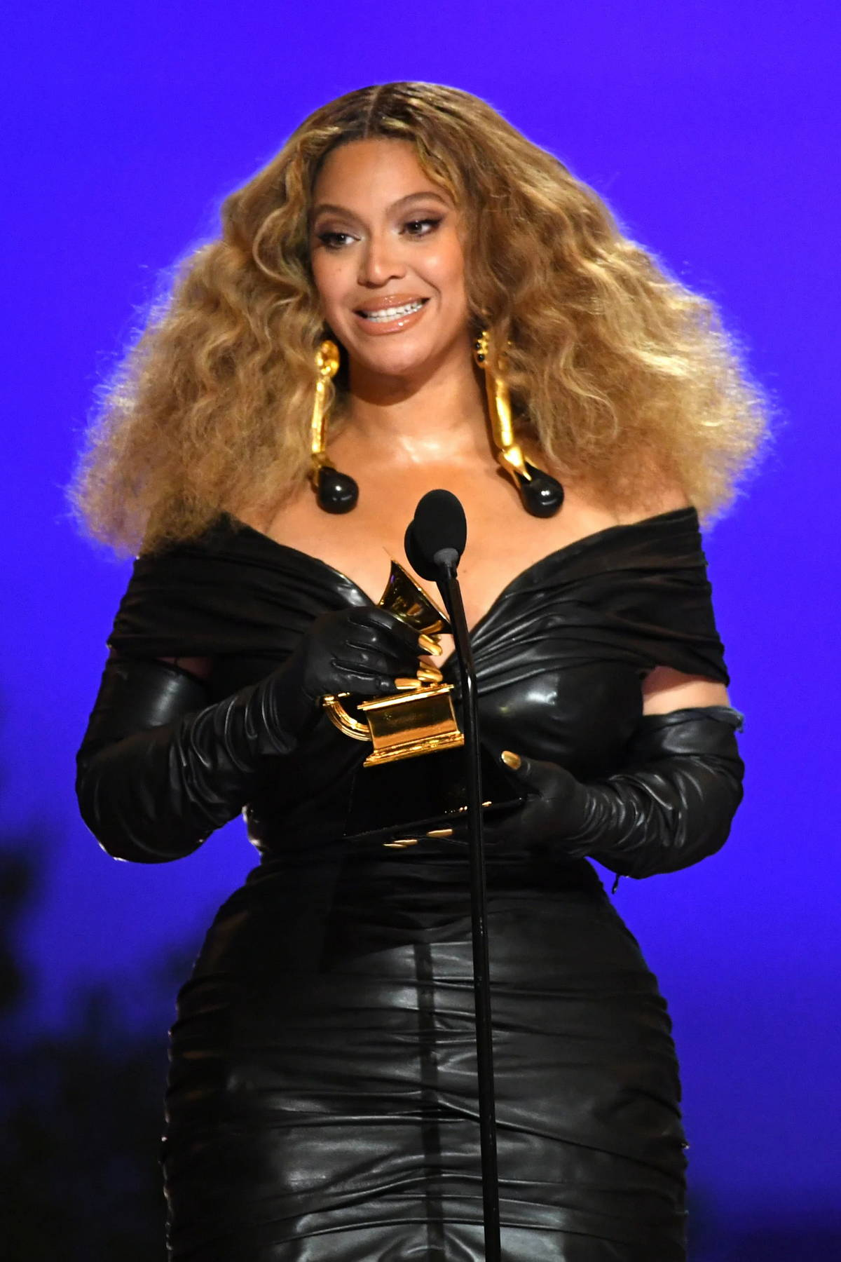 Beyonce attends the 63rd Annual GRAMMY Awards at the STAPLES Center in Los Angeles