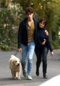 Camila Cabello and Shawn Mendes pack on the PDA while out walking their dog around the neighborhood in Los Angeles