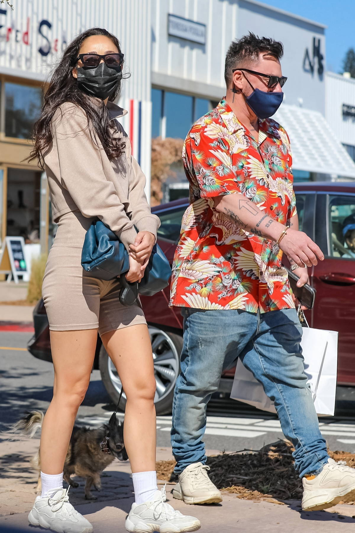Cara Santana steps out for some shopping with boyfriend Shannon Leto in Malibu, California