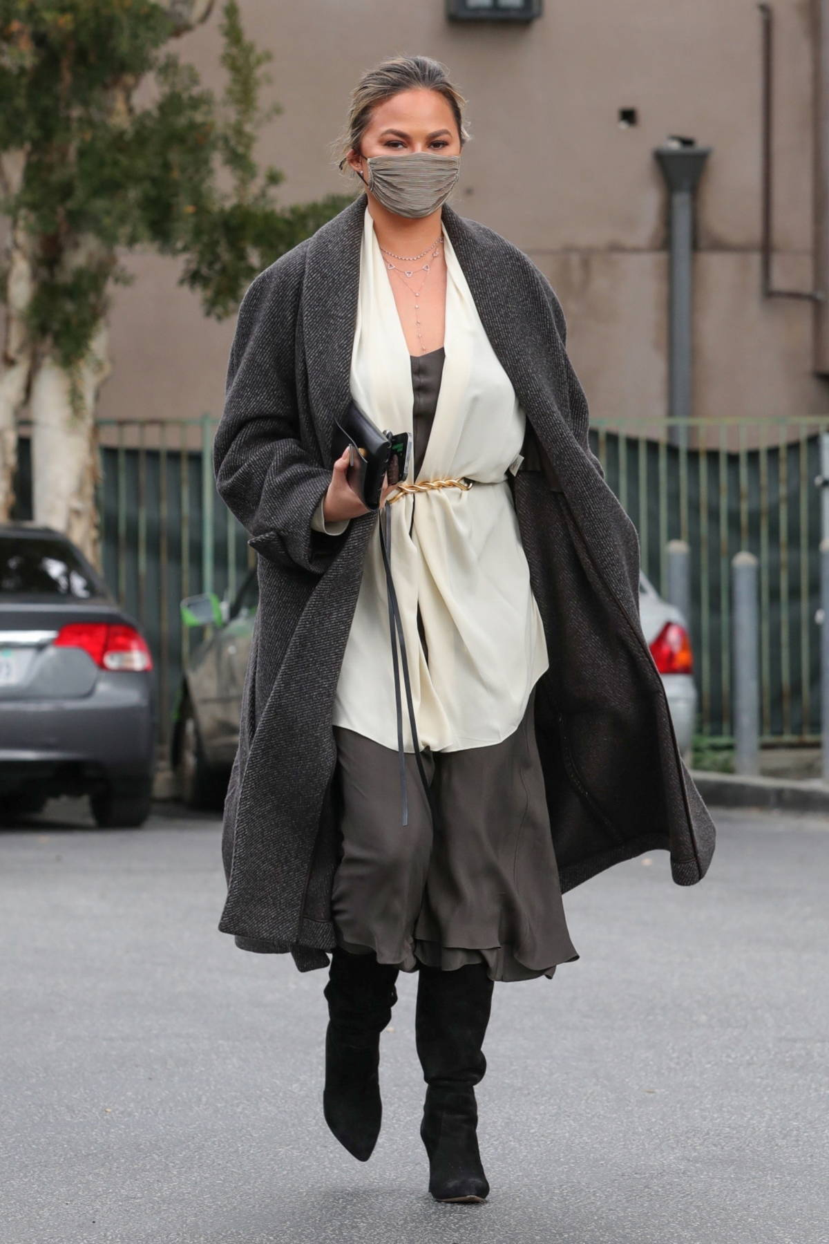 Chrissy Teigen puts on a stylish display while running a few errands in Beverly Hills, California