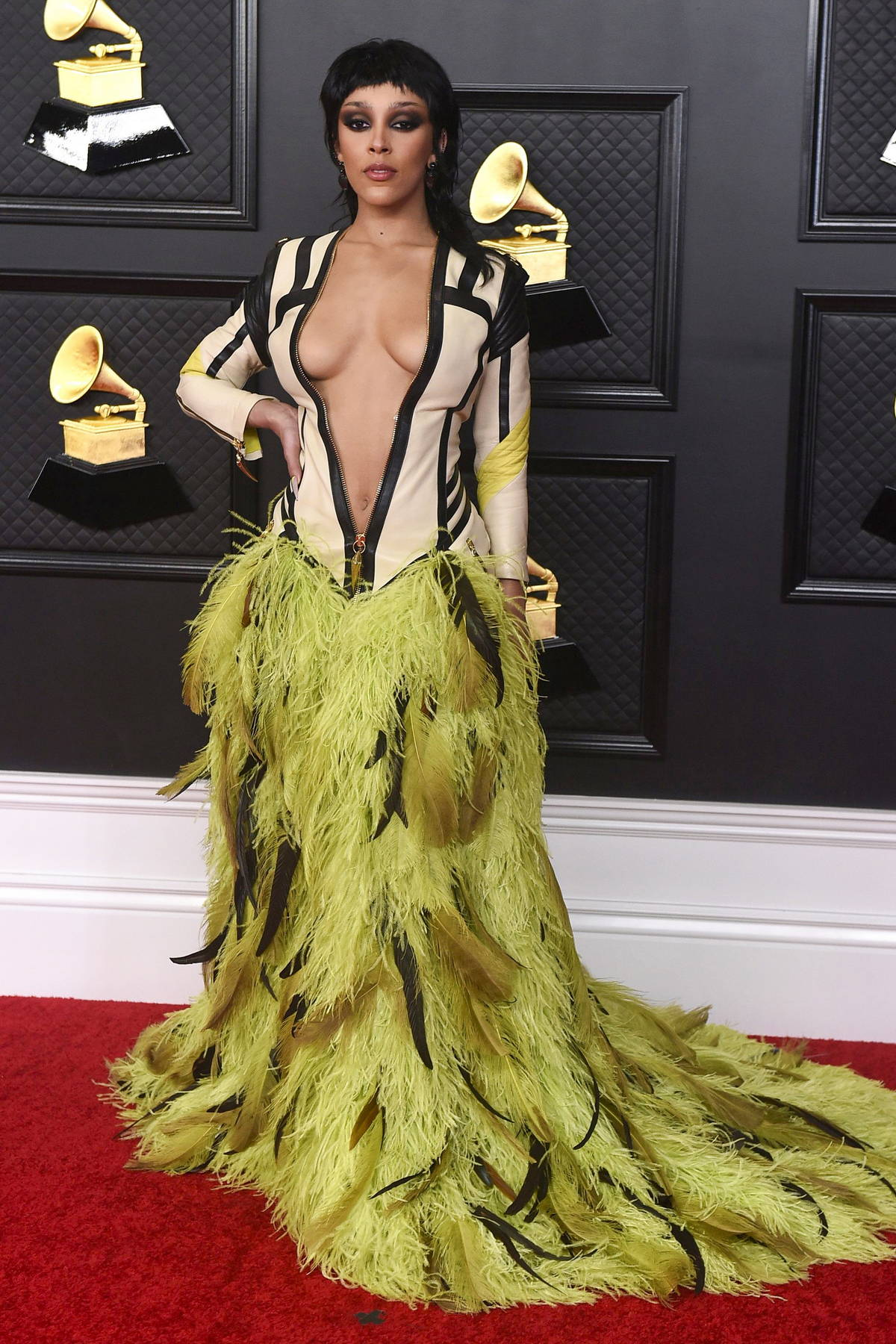 Doja Cat attends the 63rd Annual GRAMMY Awards at the STAPLES Center in Los Angeles