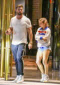 Elsa Pataky and Chris Hemsworth seen leaving after attending a friend's birthday party at the Crown hotel in Sydney, Australia