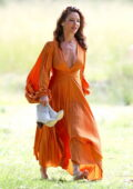 Elsa Pataky looks stunning in various citrus tone looks during a photoshoot in Sydney, Australia