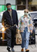 Emma Roberts and Garret Hedlund seen grocery shopping at Bristol Farms in Beverly Hills, California