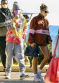 Hailey and Justin Bieber seen leaving with their security after lunch at Nobu in Malibu, California