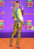 Heidi Klum attends Nickelodeon's Kids' Choice Awards 2021 at Barker Hangar in Santa Monica, California